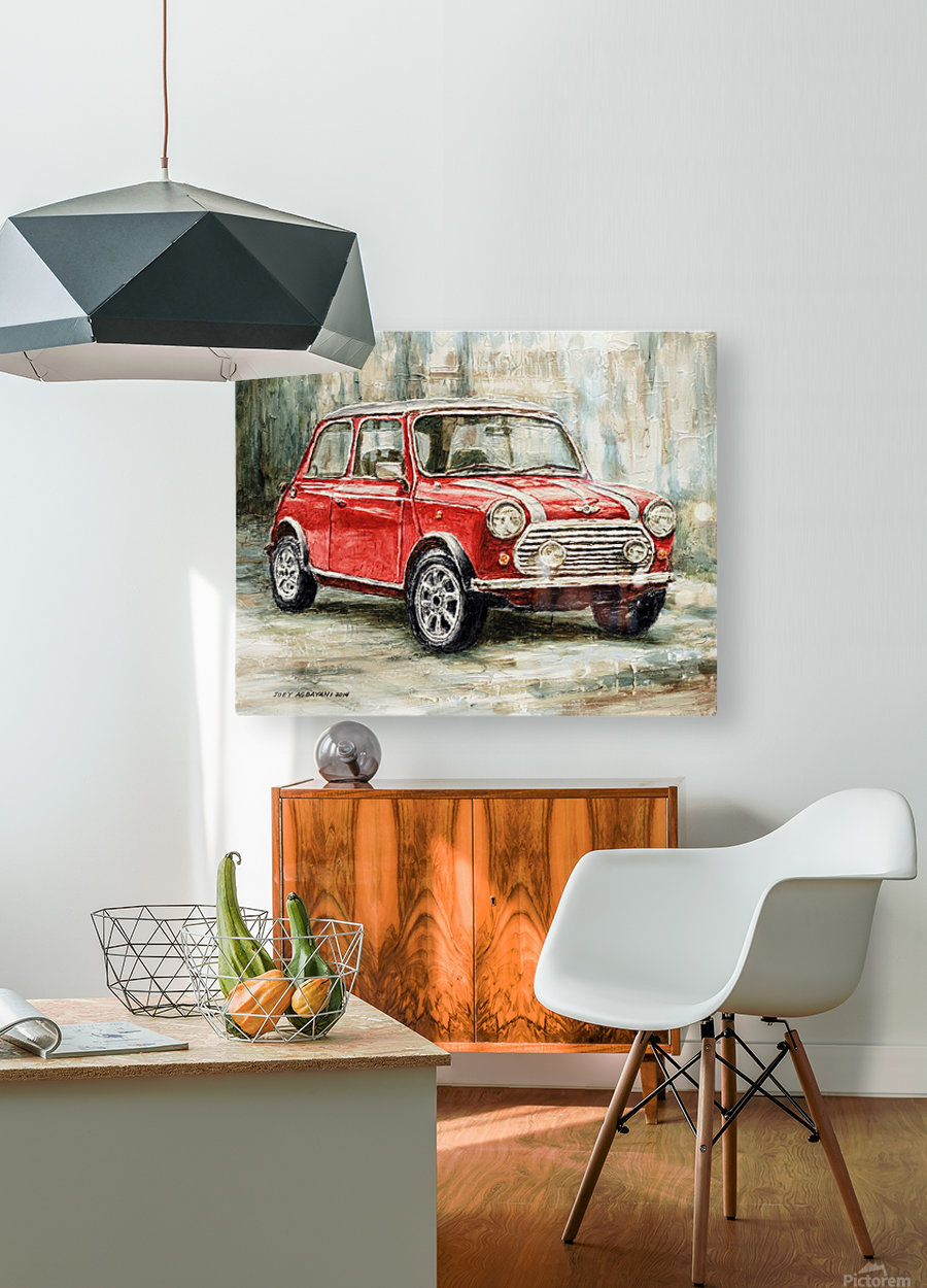 Mini Cooper S 2000  HD Metal print with Floating Frame on Back