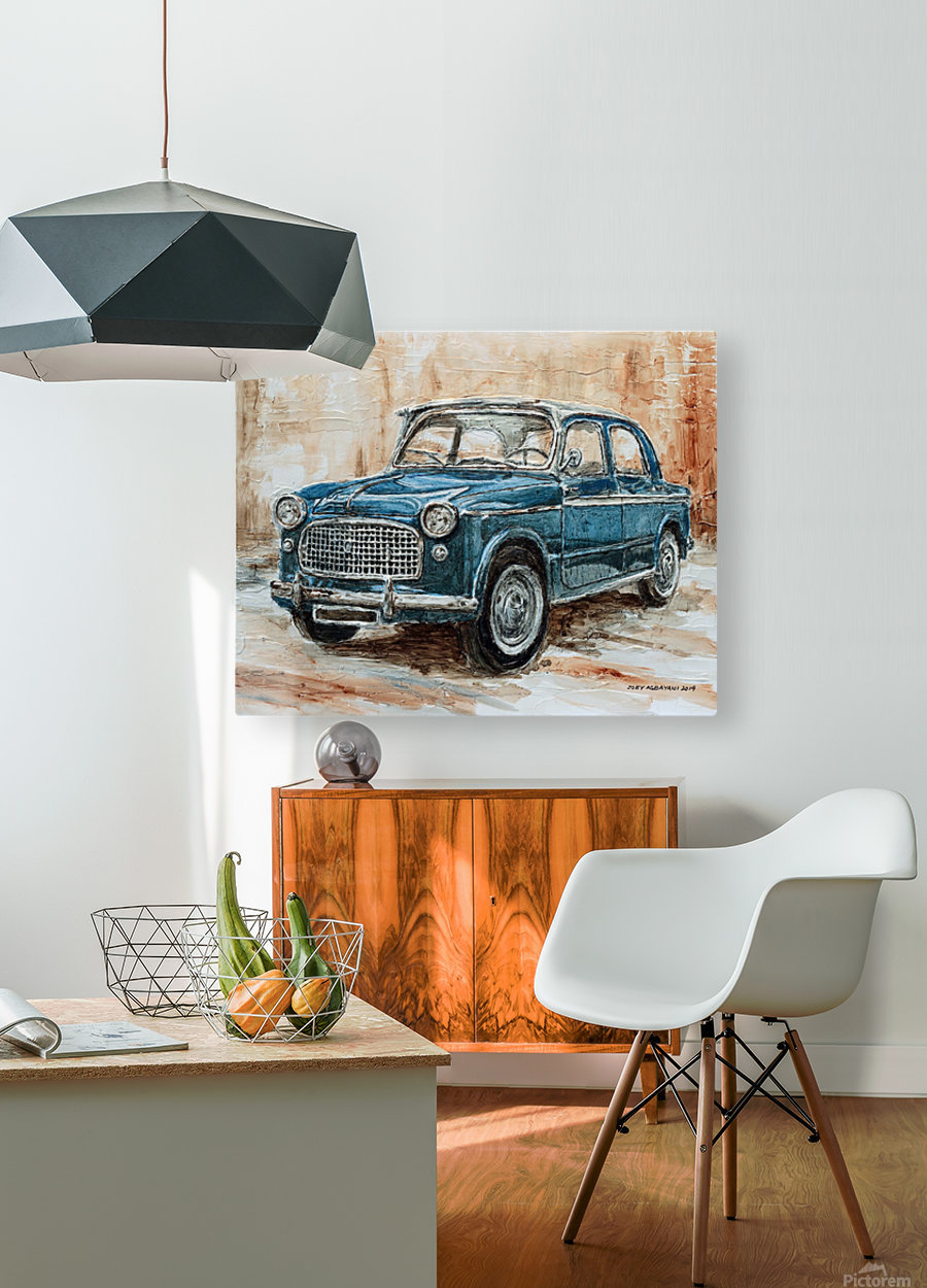 1960 Fiat 1100 103 H  HD Metal print with Floating Frame on Back