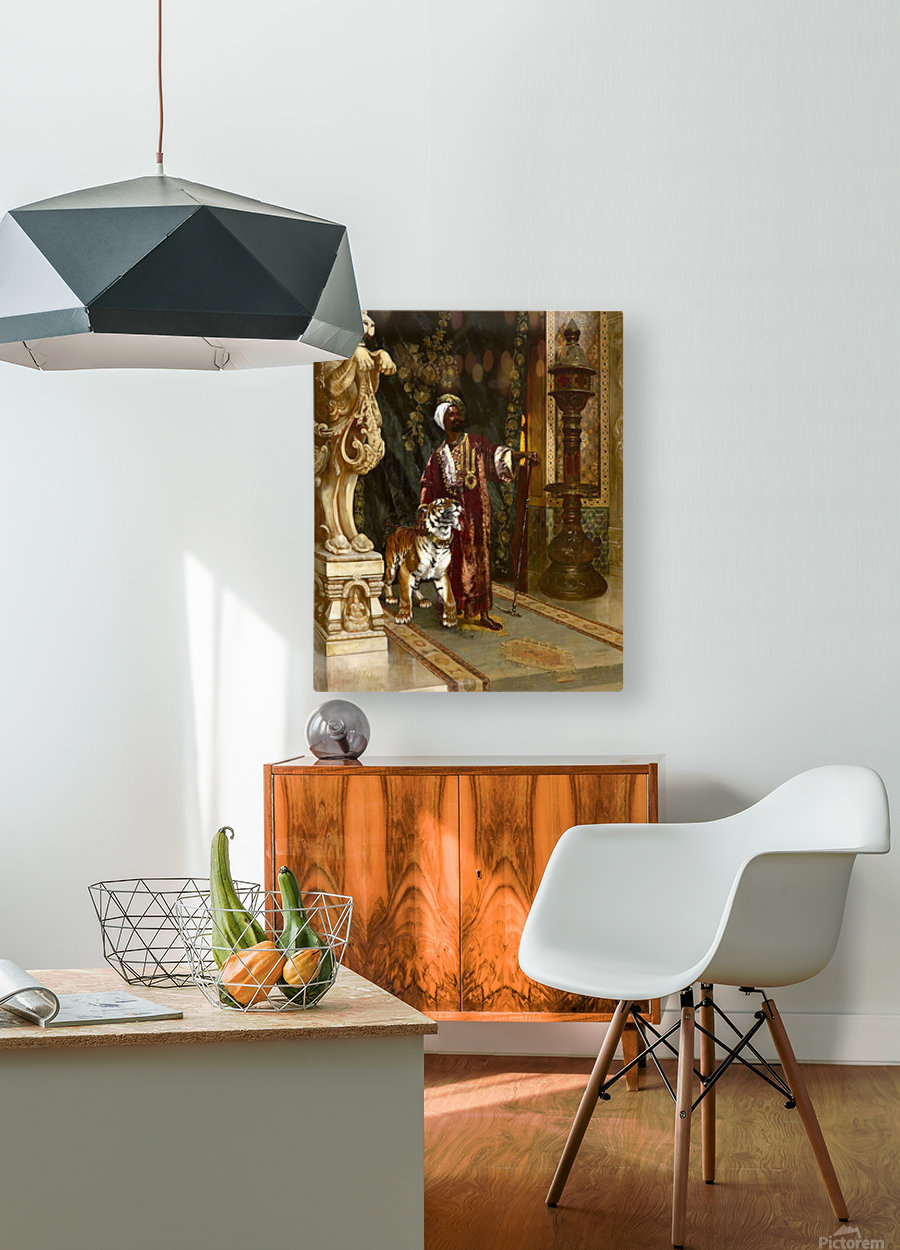 Le Sultan et son Tigre  HD Metal print with Floating Frame on Back