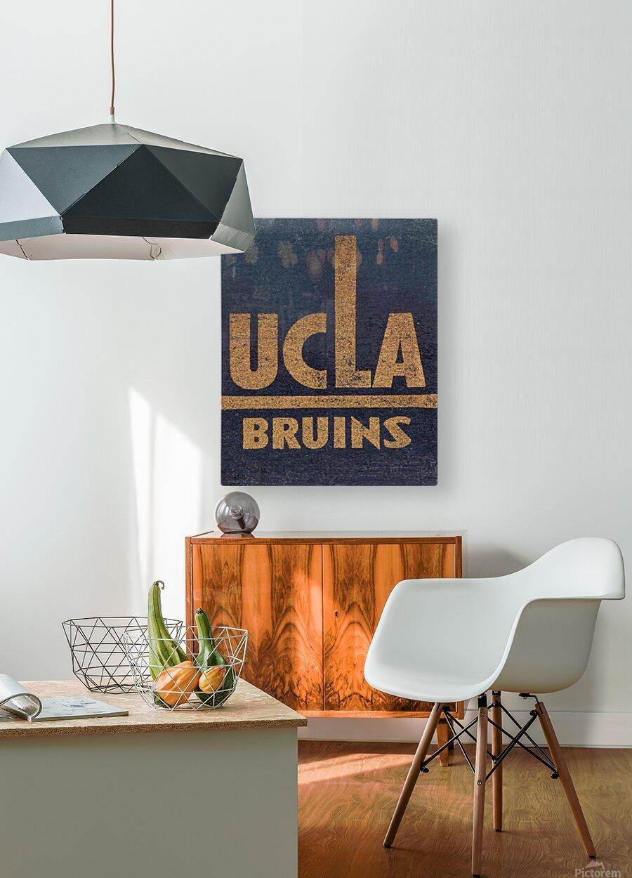Vintage UCLA Bruins Art  HD Metal print with Floating Frame on Back