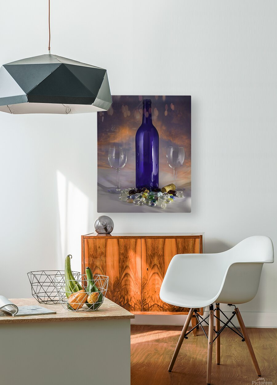 Sunset and Wine  HD Metal print with Floating Frame on Back