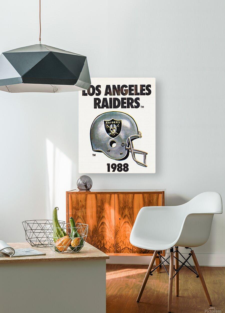 1988 Los Angeles Raiders Helmet Art  HD Metal print with Floating Frame on Back