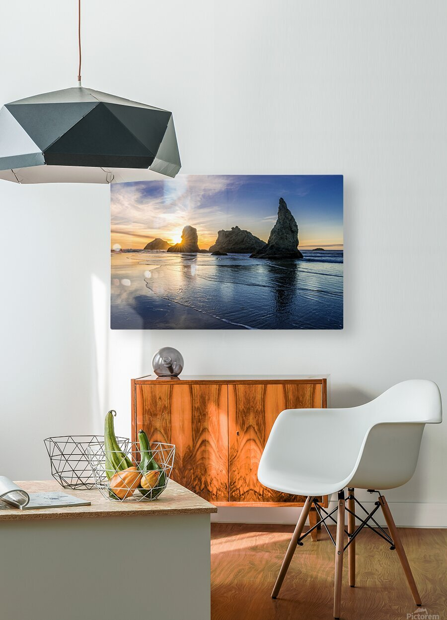 Bandon Oregon 02  HD Metal print with Floating Frame on Back