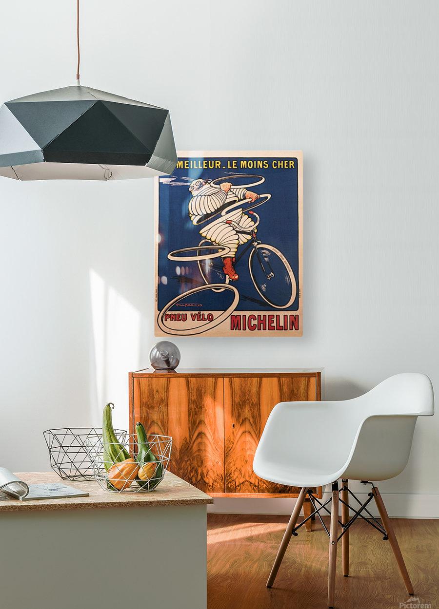 Pneu Velo  HD Metal print with Floating Frame on Back