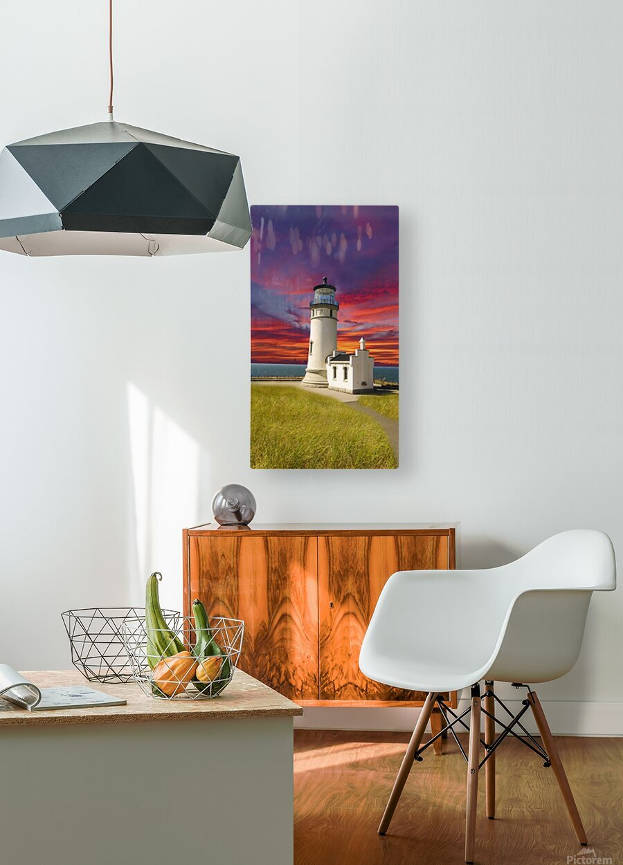 The LightHouse at Sunset  HD Metal print with Floating Frame on Back