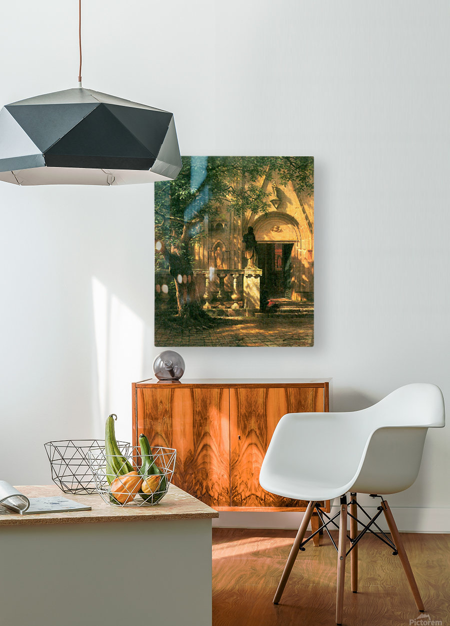 Sunlight and Shadow 2 by Bierstadt  HD Metal print with Floating Frame on Back