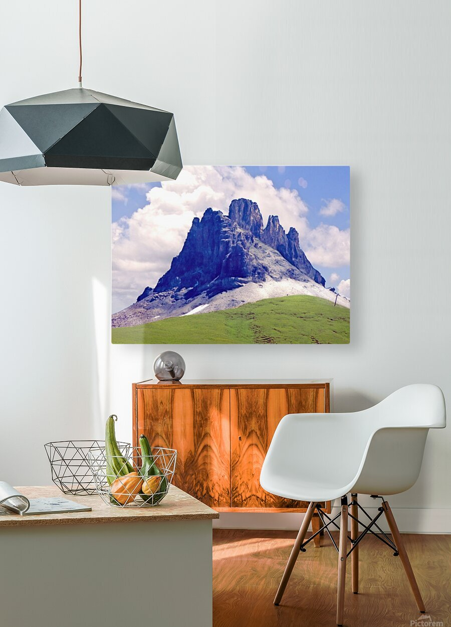 Mountain Peak in the Swiss Alps  HD Metal print with Floating Frame on Back