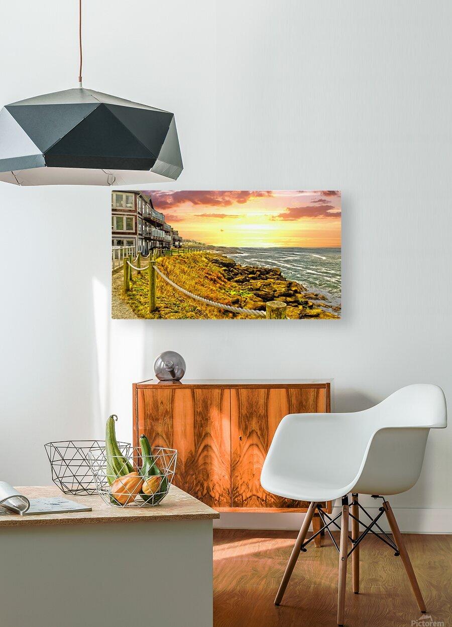 Depoe Bay On the Oregon Coast  HD Metal print with Floating Frame on Back