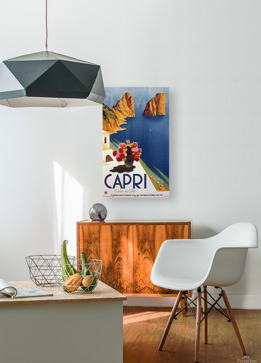 Vintage Capri  HD Metal print with Floating Frame on Back
