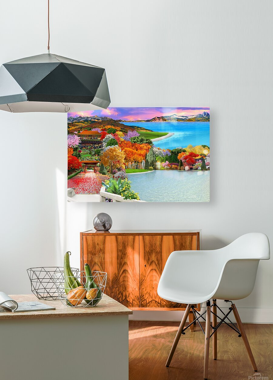 ASIAN HOME  HD Metal print with Floating Frame on Back