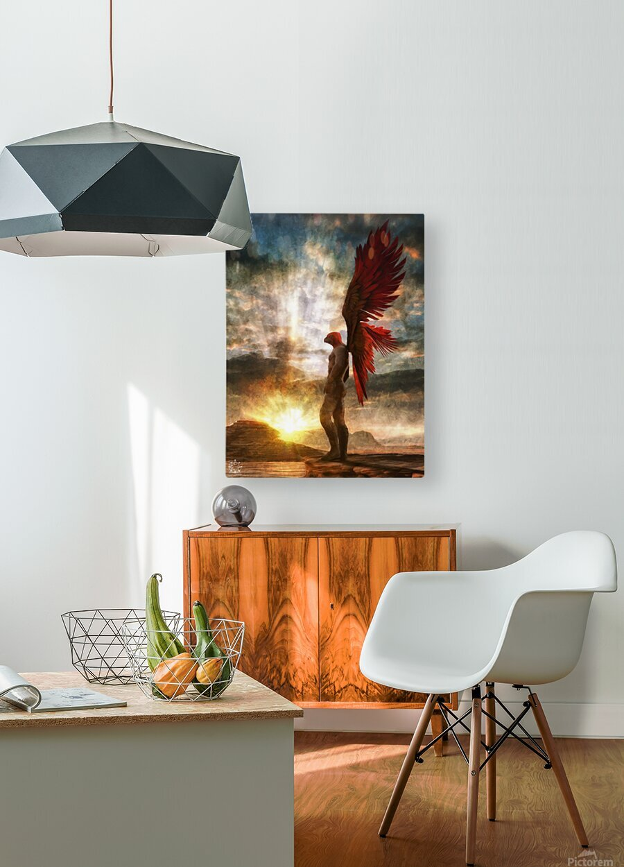 Horus Watching Part 1  HD Metal print with Floating Frame on Back