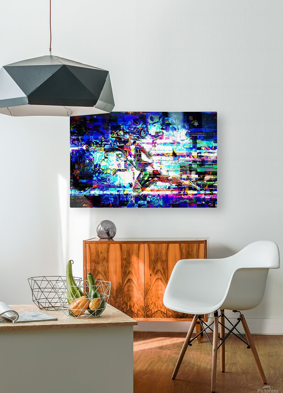 Flash1  HD Metal print with Floating Frame on Back