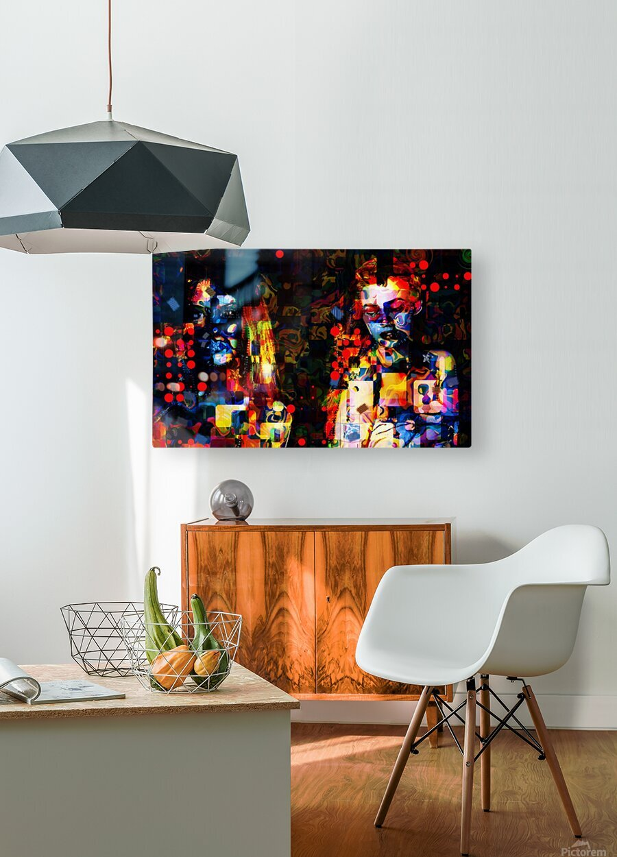 Anikaz  HD Metal print with Floating Frame on Back