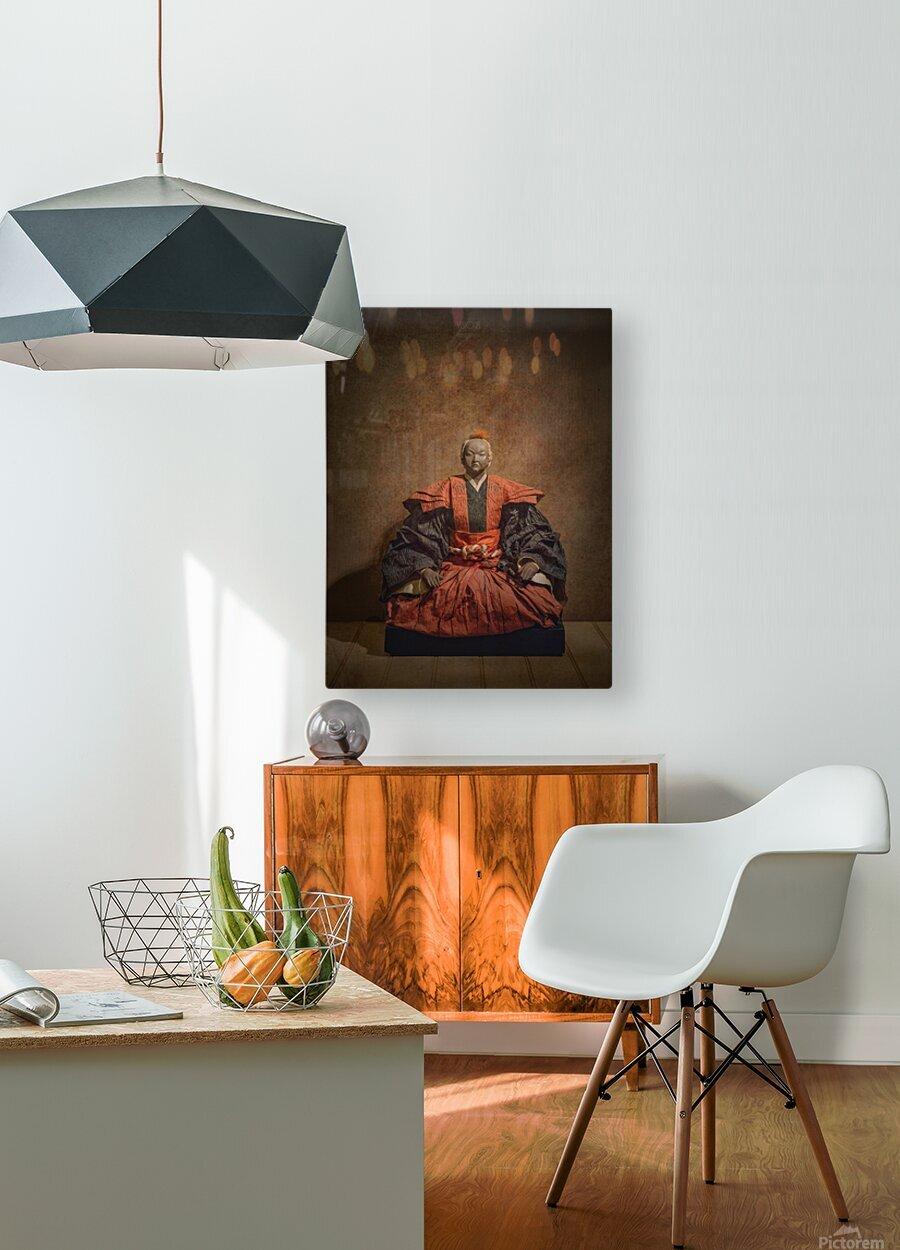Samurai  HD Metal print with Floating Frame on Back
