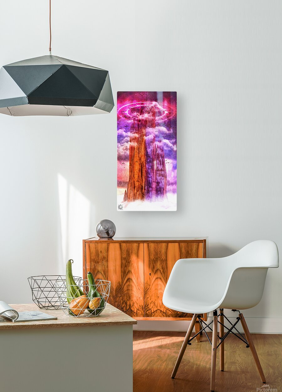 Dragonspire  HD Metal print with Floating Frame on Back