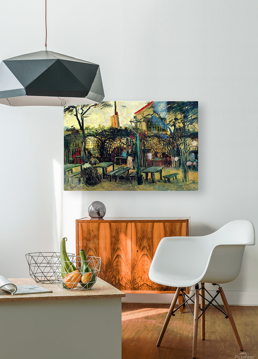 Terrace of a Cafe by Van Gogh  HD Metal print with Floating Frame on Back
