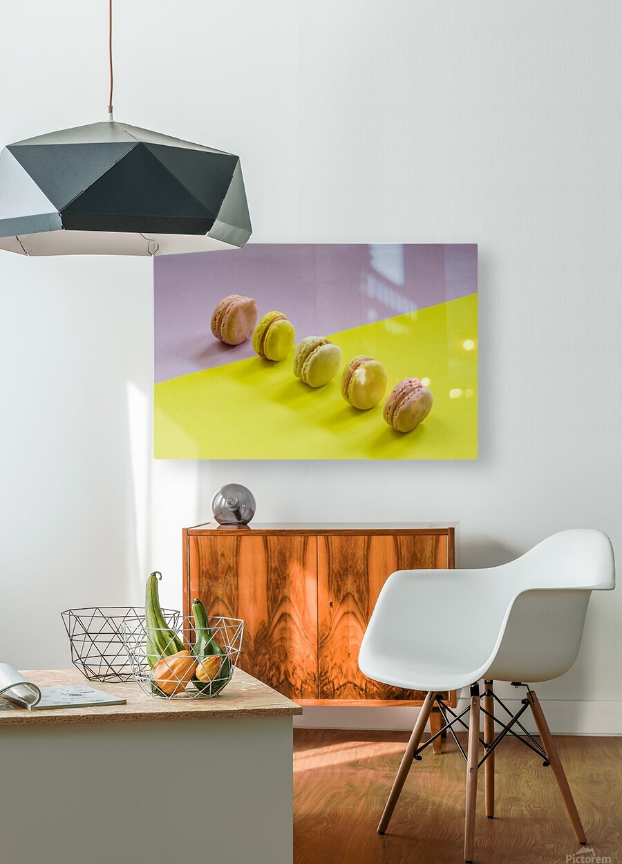 food macaroon photography  HD Metal print with Floating Frame on Back