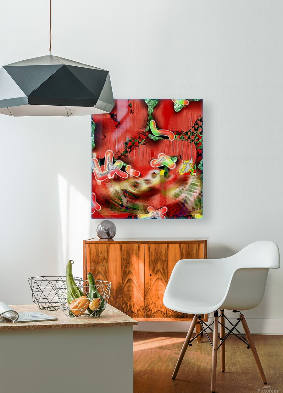 Residents of a Growling Stomach  HD Metal print with Floating Frame on Back