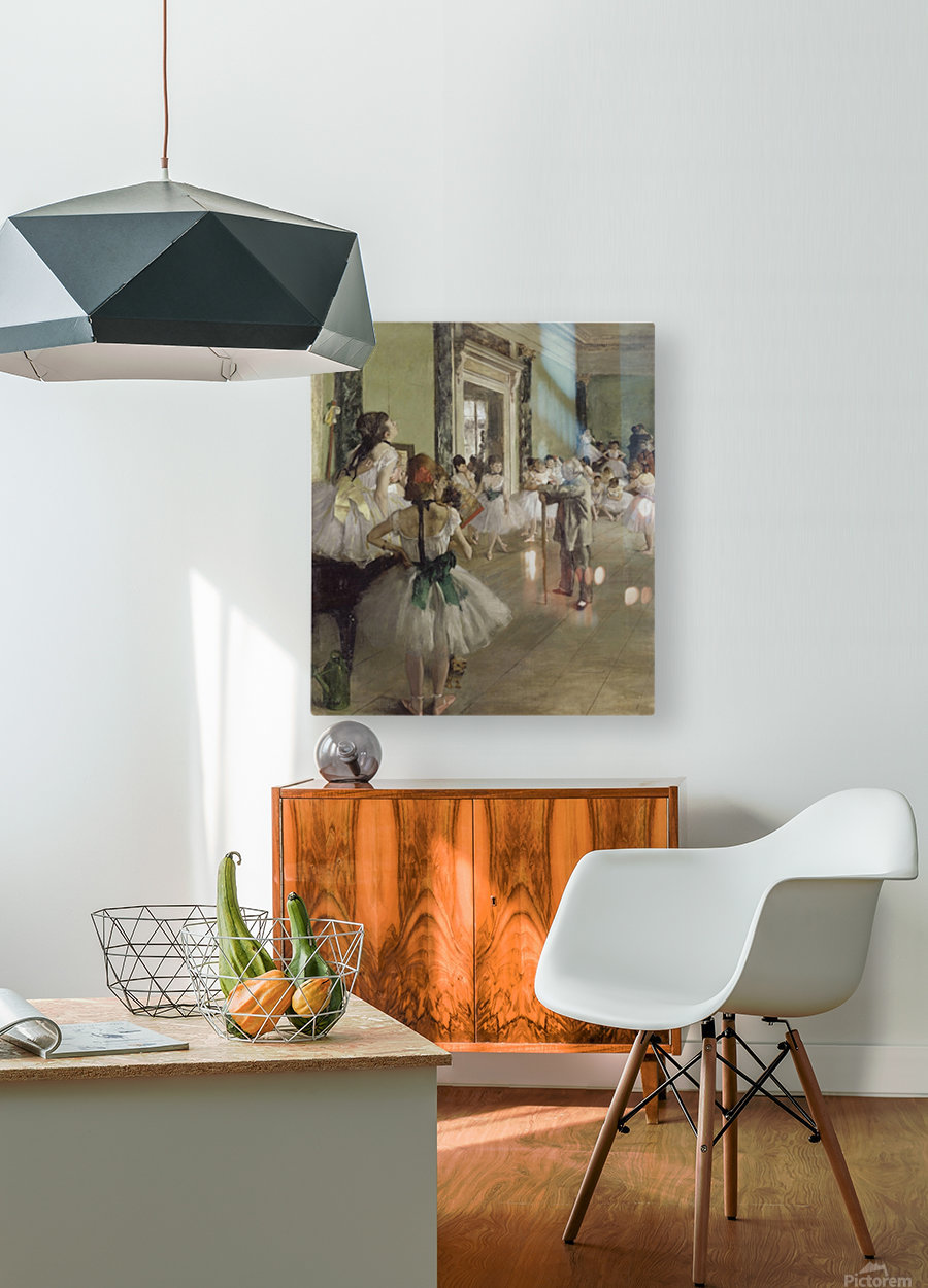 The Ballet Class by Degas  HD Metal print with Floating Frame on Back