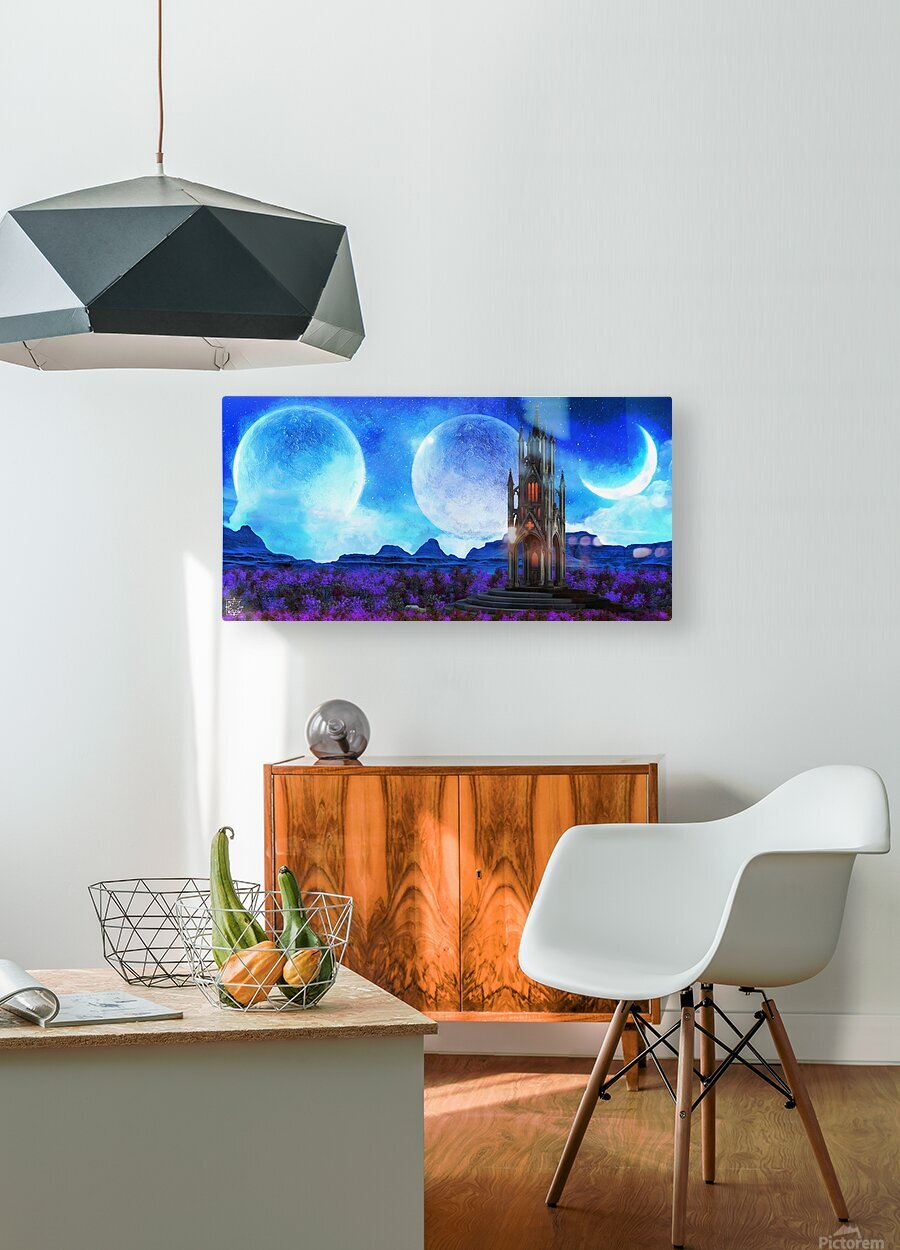 Lonely Spire  HD Metal print with Floating Frame on Back