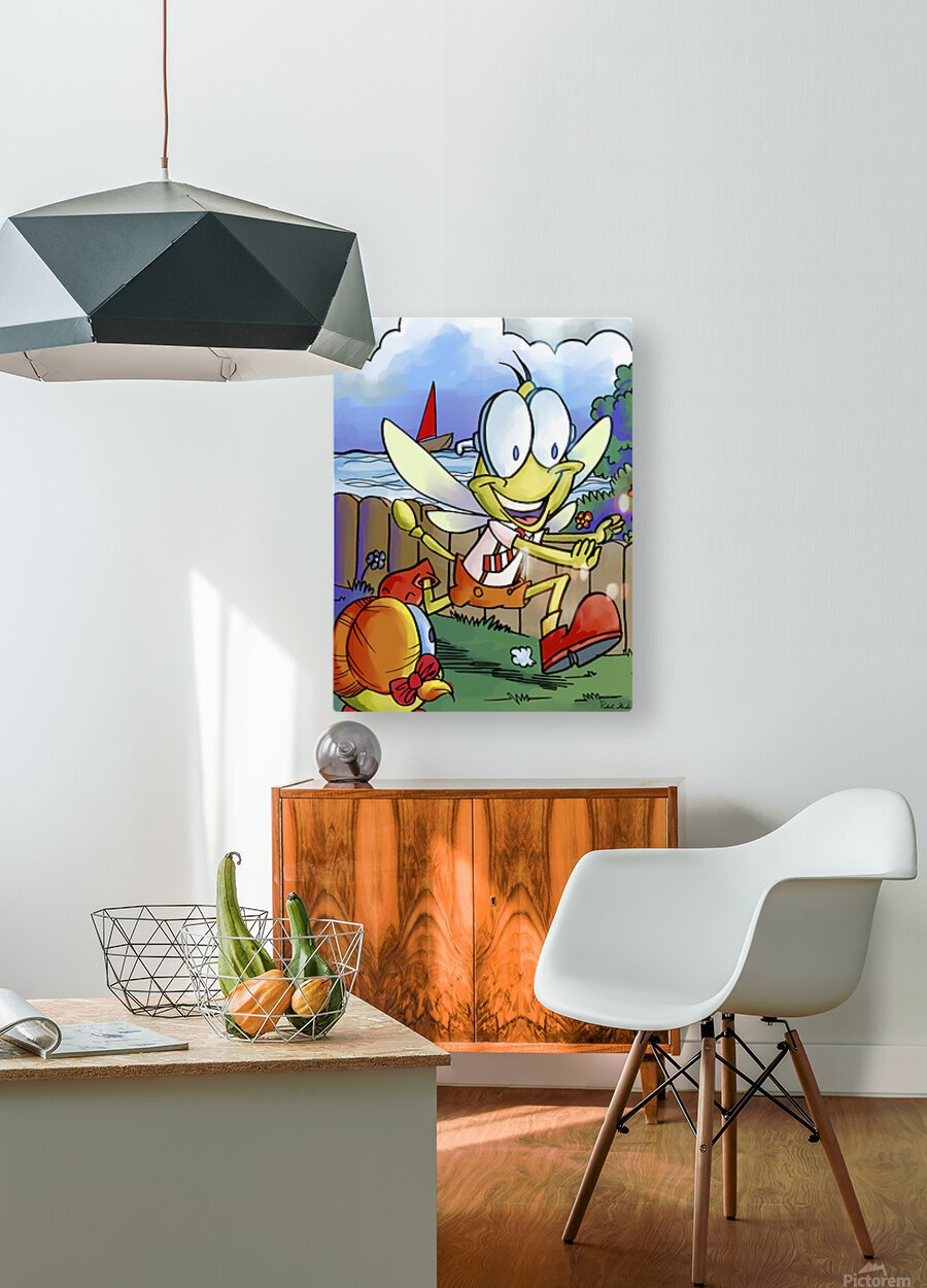 Dag Dragonfly - The Chase  HD Metal print with Floating Frame on Back