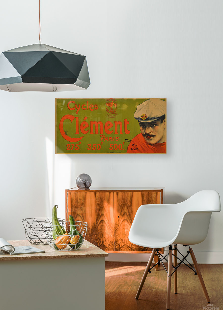 Clement Paris Cycles  HD Metal print with Floating Frame on Back