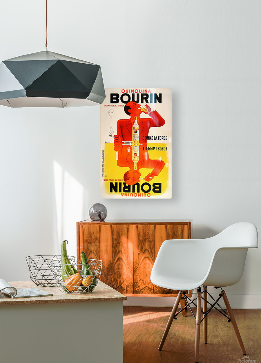 Bourin  HD Metal print with Floating Frame on Back