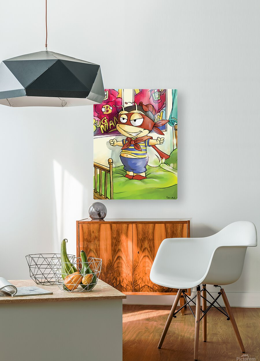 Its Super Buster to the Rescue  HD Metal print with Floating Frame on Back