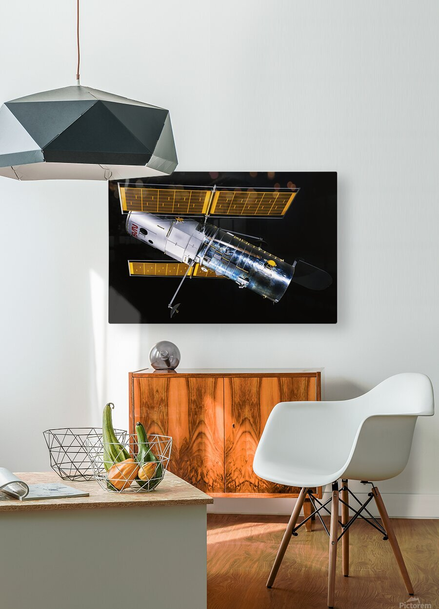NASA Hubble Space Telescope Side - Outer Space Image  HD Metal print with Floating Frame on Back