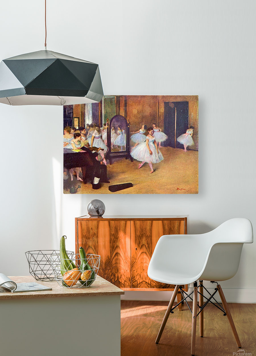The dance hall by Degas  HD Metal print with Floating Frame on Back