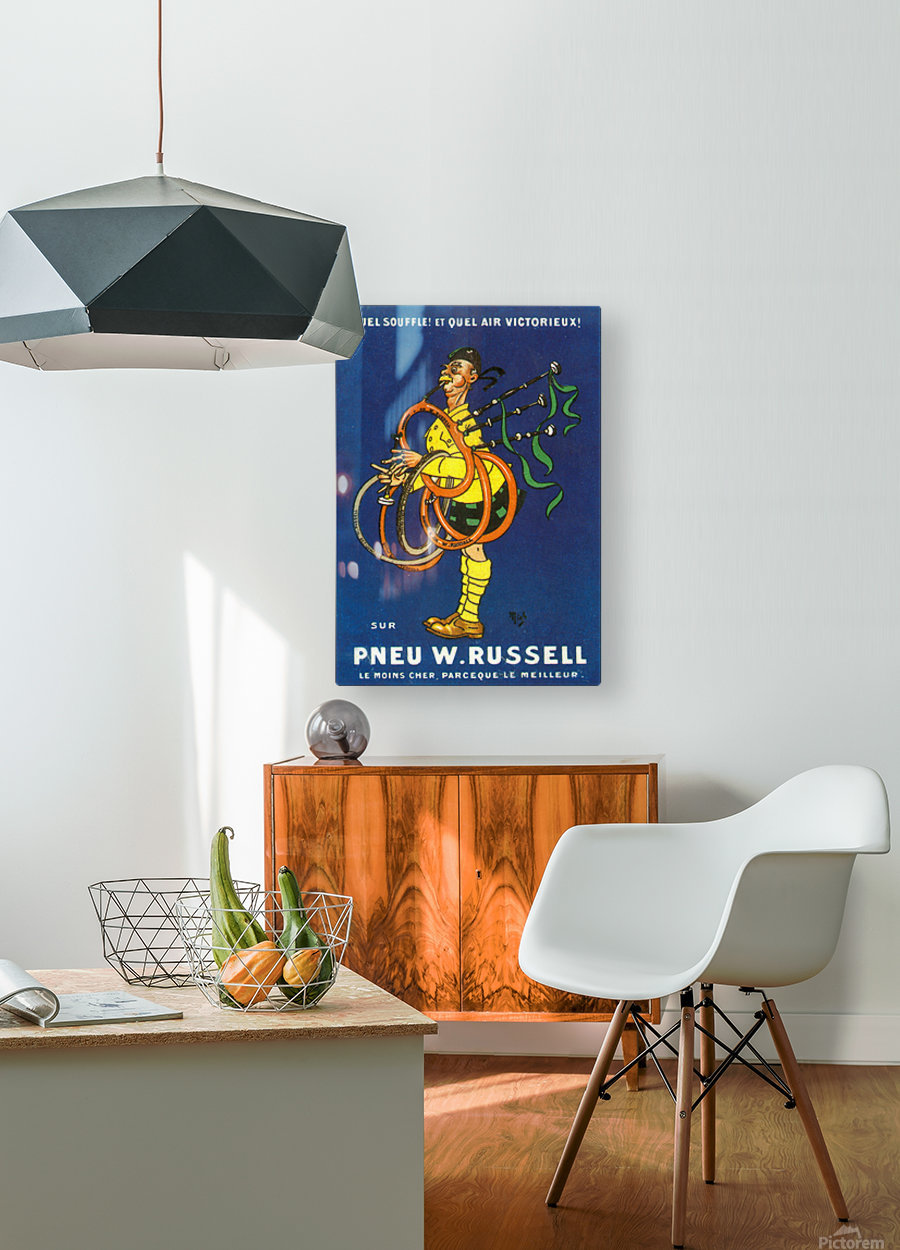 Pneu W.Russell  HD Metal print with Floating Frame on Back
