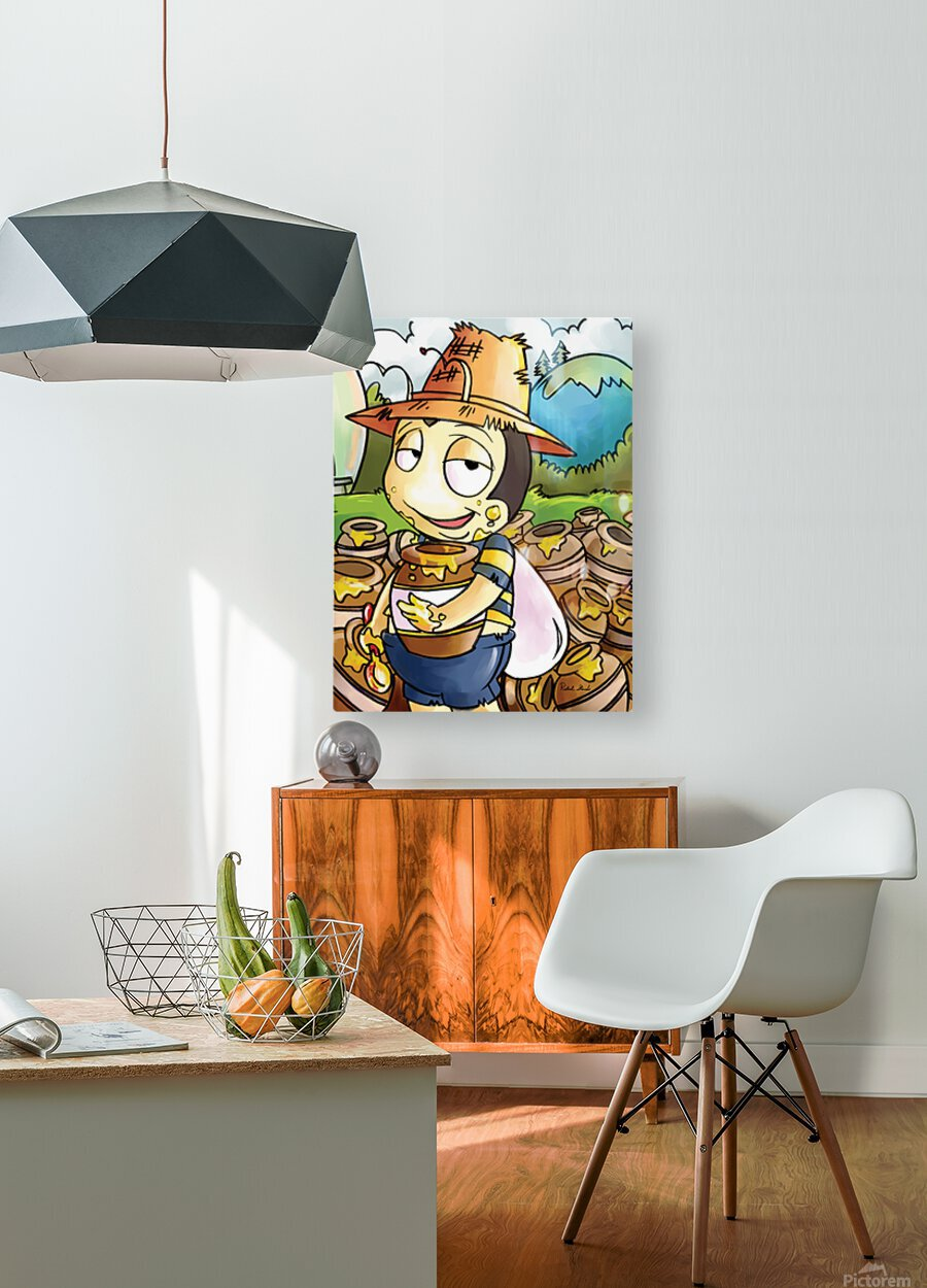 Honey Trouble for  Buster Bee  HD Metal print with Floating Frame on Back