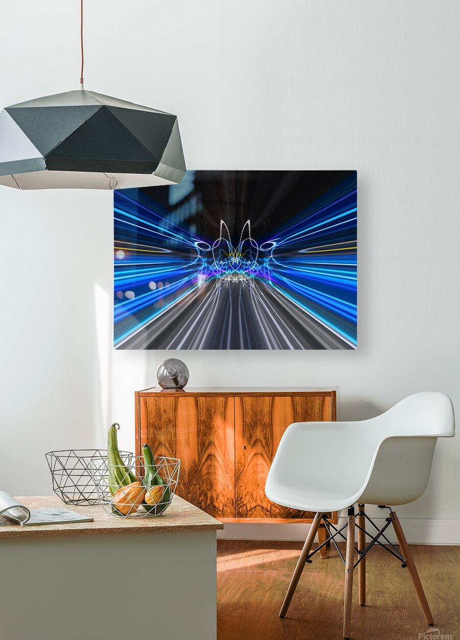 WARP SPEED  HD Metal print with Floating Frame on Back