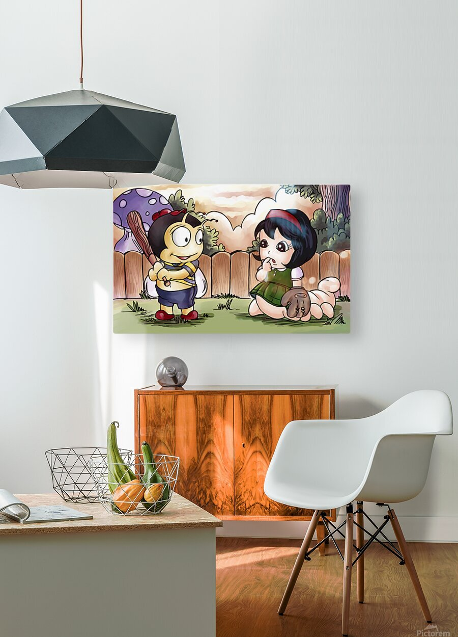 Time for Baseball Buster and Sarah  HD Metal print with Floating Frame on Back