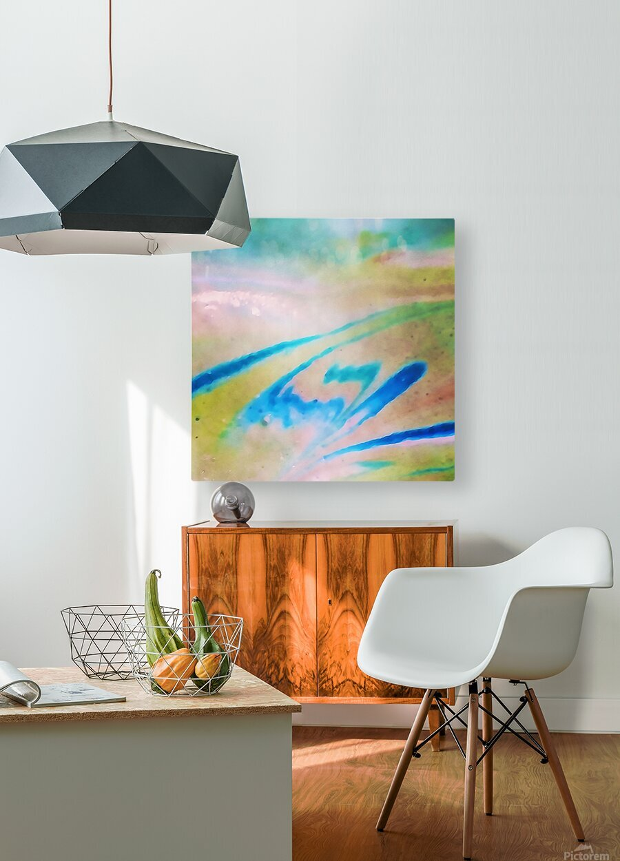 Pierce Anderson Swirls  HD Metal print with Floating Frame on Back