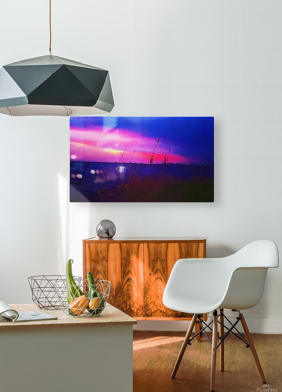 Burst of Pink  HD Metal print with Floating Frame on Back