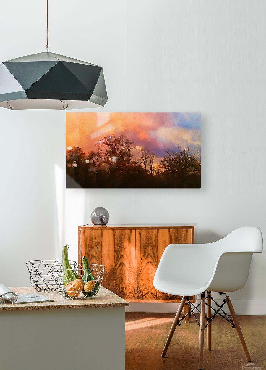 September Storm   HD Metal print with Floating Frame on Back