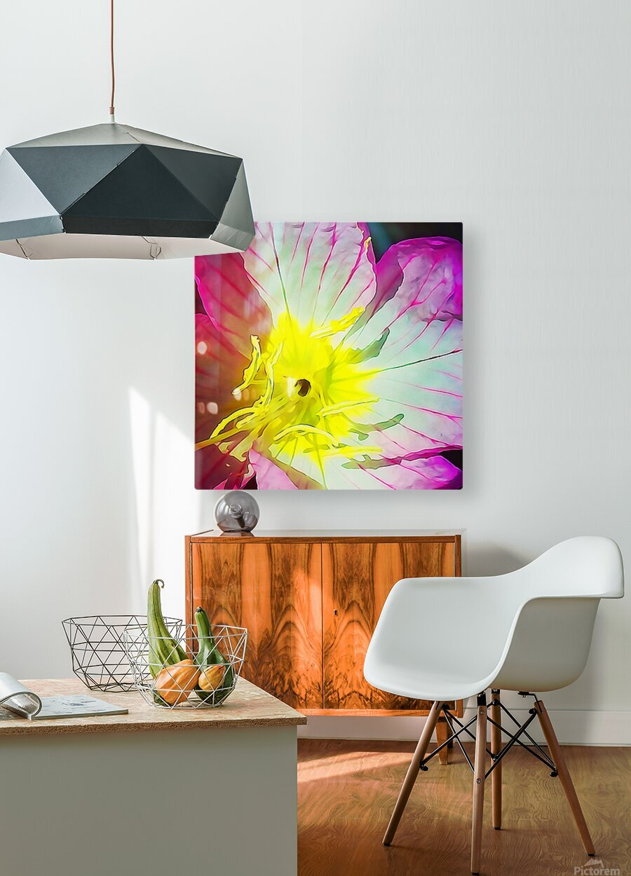 Flower Close Up  HD Metal print with Floating Frame on Back