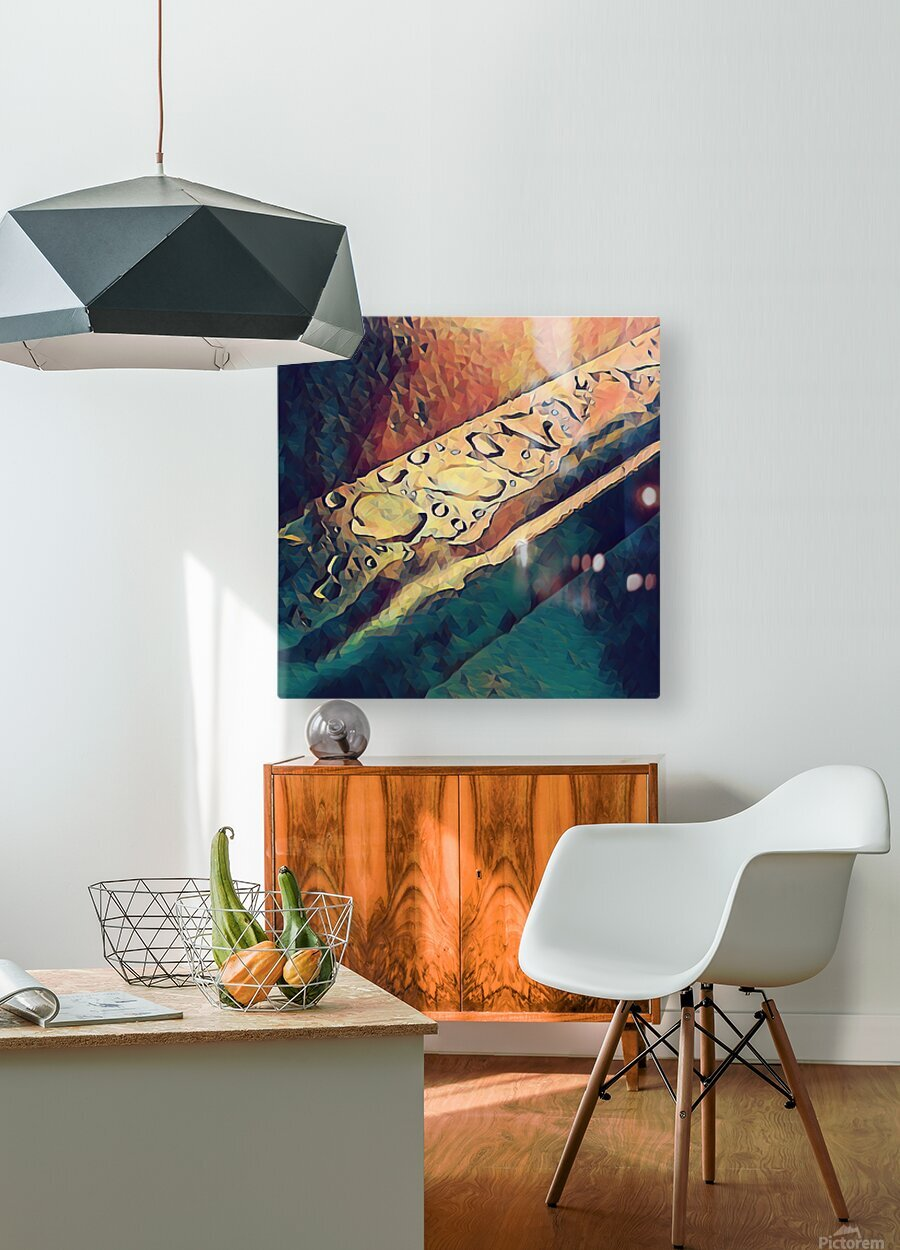 Water Drops  HD Metal print with Floating Frame on Back