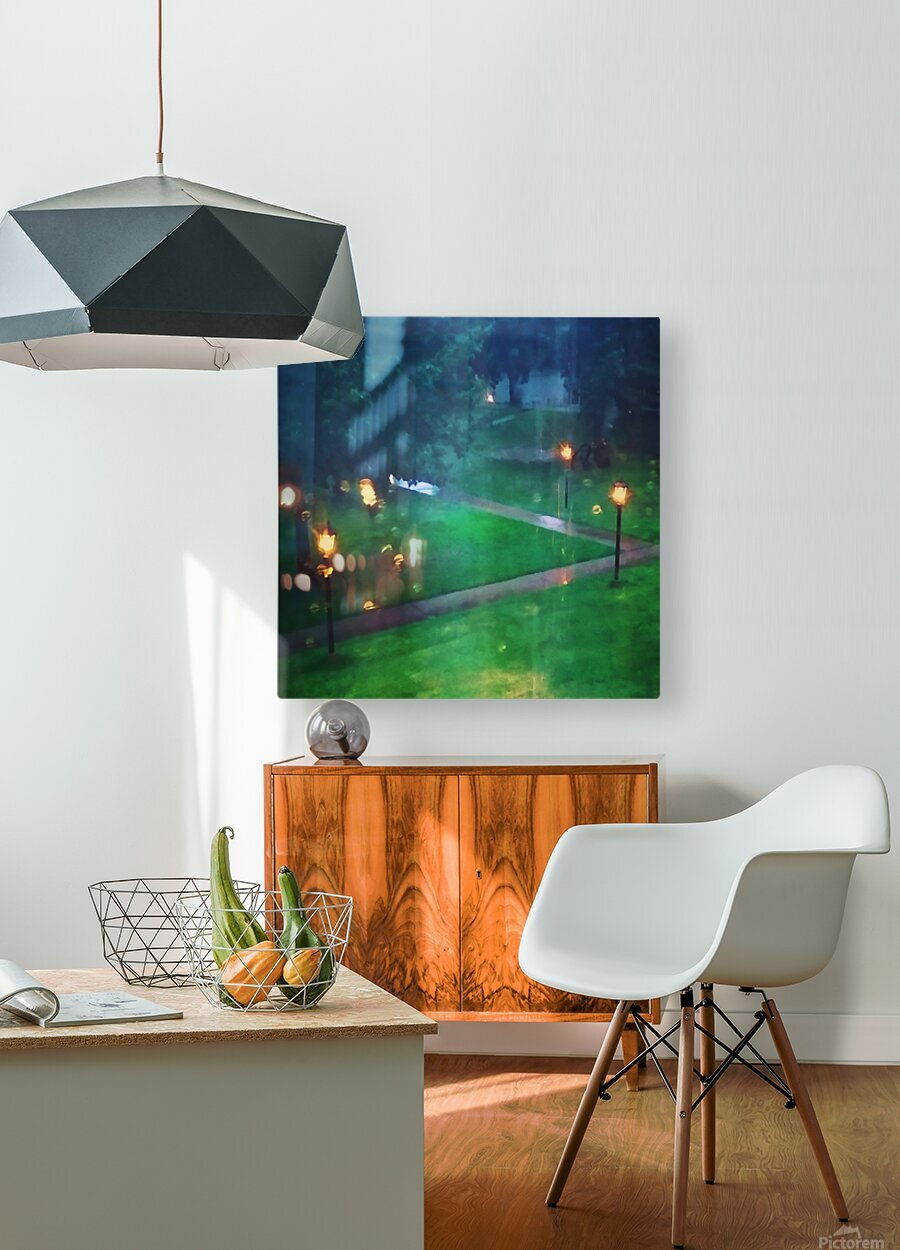 rainy summer afternoon  HD Metal print with Floating Frame on Back