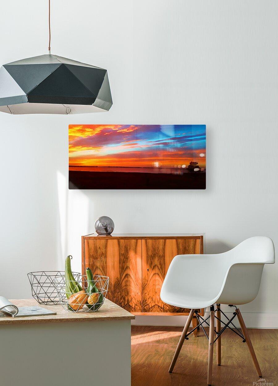 Lake Sky  HD Metal print with Floating Frame on Back