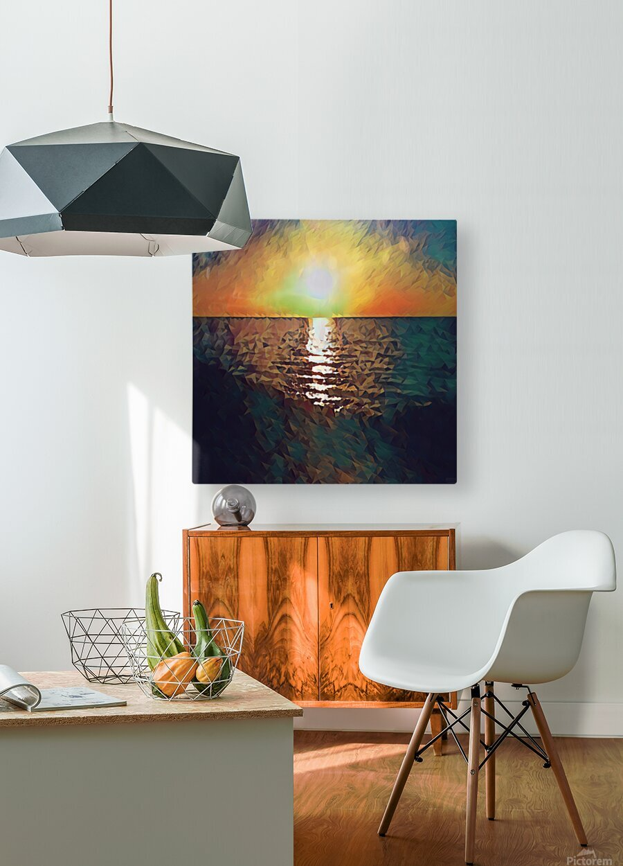 sunset art  HD Metal print with Floating Frame on Back
