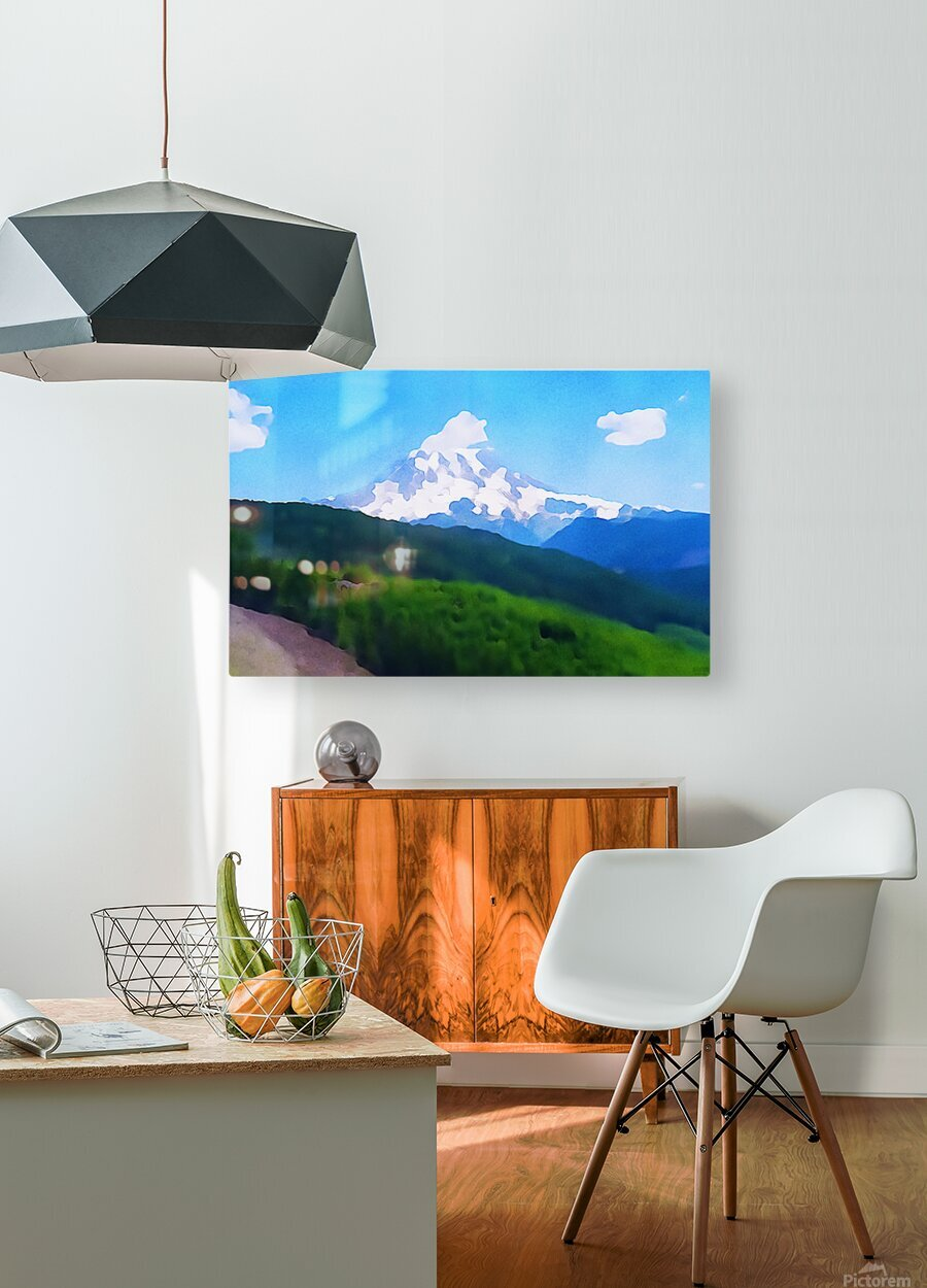 Mt. Ranier  HD Metal print with Floating Frame on Back