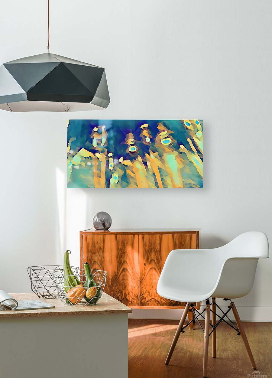 Inside of Glass  HD Metal print with Floating Frame on Back