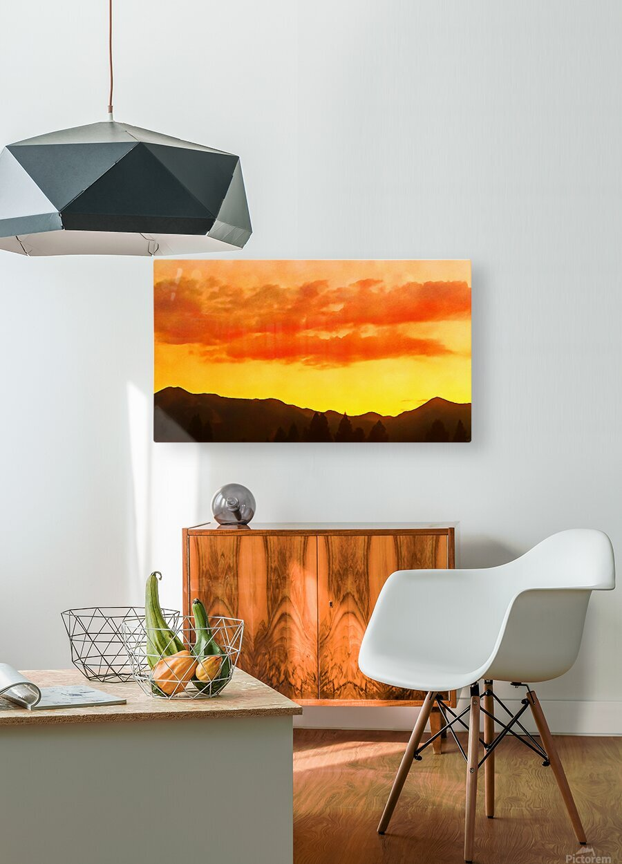 california sky  HD Metal print with Floating Frame on Back