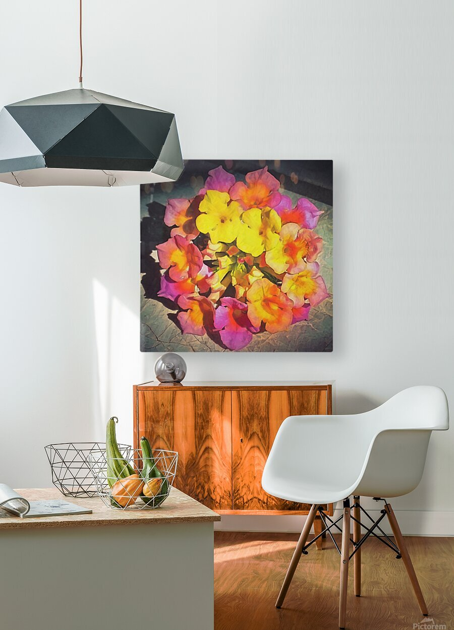 flowers art  HD Metal print with Floating Frame on Back