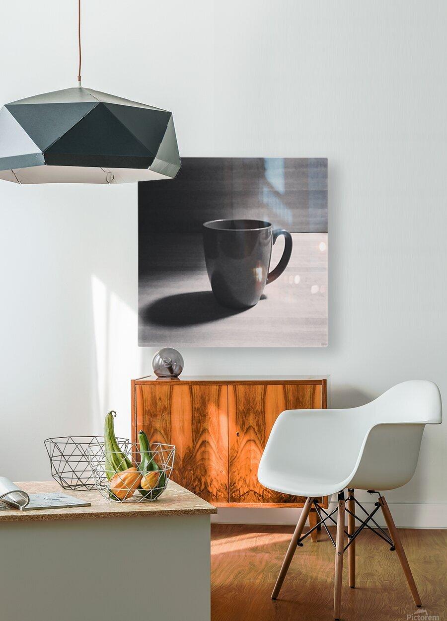 coffee mug  HD Metal print with Floating Frame on Back