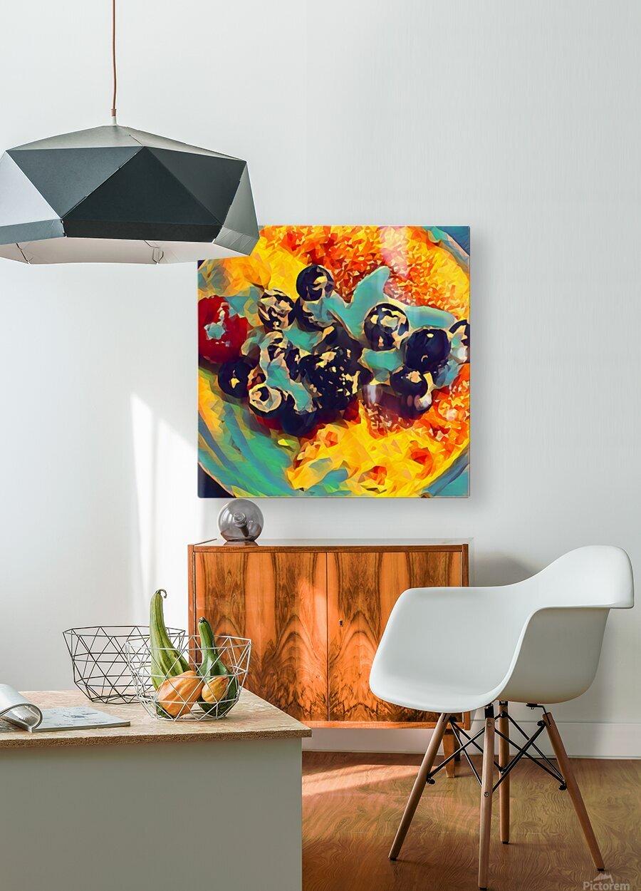 creme brulee food art 2  HD Metal print with Floating Frame on Back