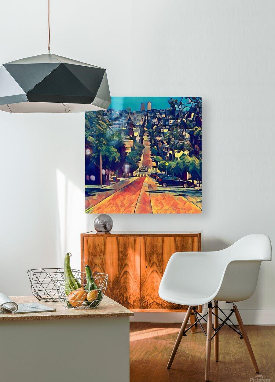 san francisco steep  HD Metal print with Floating Frame on Back