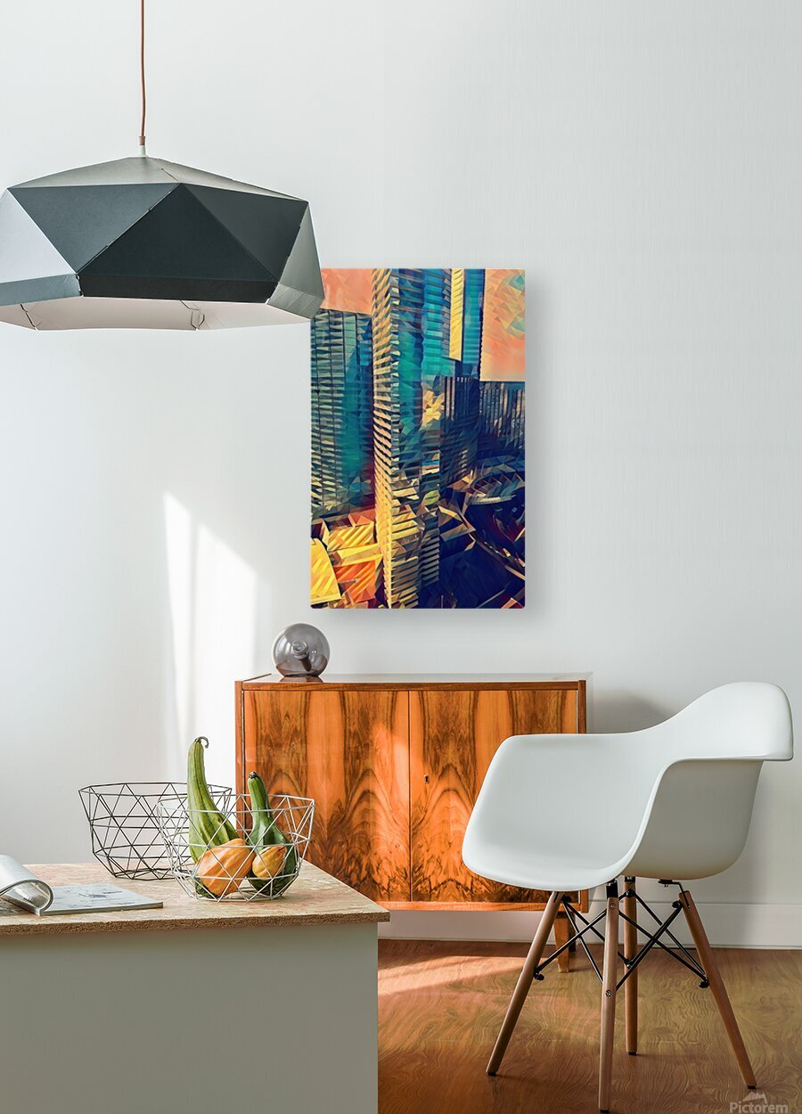 las vegas reflections  HD Metal print with Floating Frame on Back